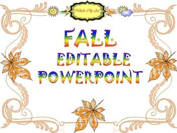 Fall - Editable Template - PowerPoint slide design