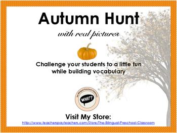 Autumn/Fall Hunt I Spy Game Mat