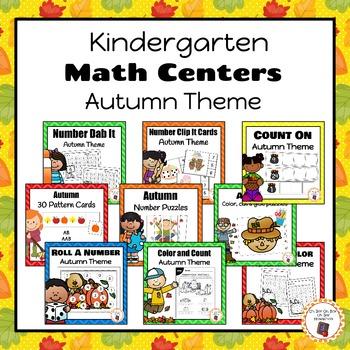 Autumn/Fall Kindergarten Math Centers Bundle