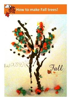 Autumn Fall Tree Craft Pre-K and Kindergarten