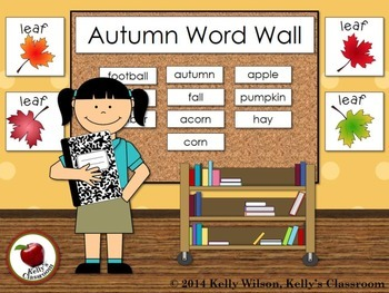Autumn Vocabulary Word Wall