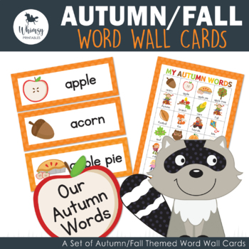 Autumn/Fall Word Wall Cards - 24 words