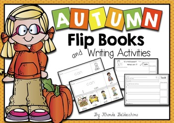Autumn / Fall Sight Word Flip Books and Writing Activities