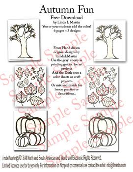 Autumn Fun  Color , Activity, Craft Sheets