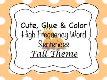 Autumn HFW Sentences