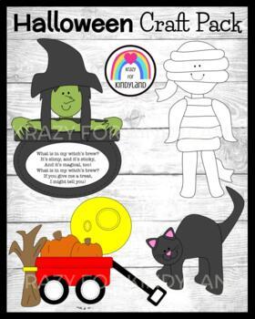 Autumn / Halloween Craft Pack: Cat, Witch's Brew, Mummy, P