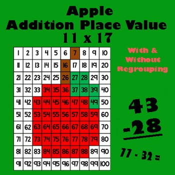 Autumn Harvest Apple Addition Math Mystery Picture - 11x17