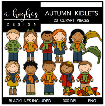Autumn Kidlets {Graphics for Commercial Use}