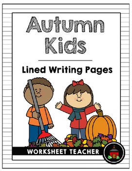 Autumn Kids Lined Writing Pages