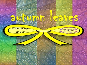 Fall - Digital papers - Autumn Leaves - Textures - Persona