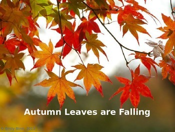 """Autumn Leaves are Falling"""