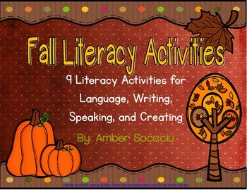 Autumn Literacy Activities for Centers or Whole Group
