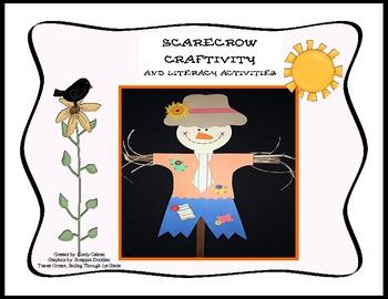Autumn Literacy Center Activities and Scarecrow Craft/Craftivity
