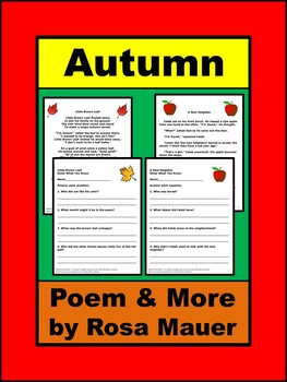 Autumn Literacy Reading and Writing Packet