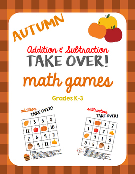 Autumn Math Games - Addition and Subtraction TAKE OVER!