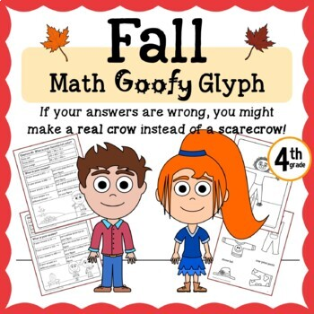 Fall Math Goofy Glyph (4th grade Common Core)