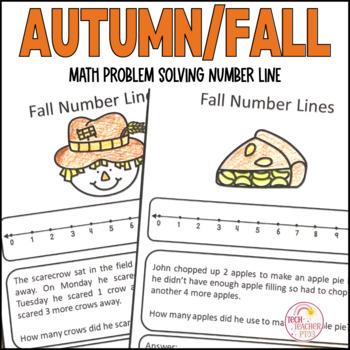 Autumn Maths Problem Solving Number Line Strategy 10 Worksheets