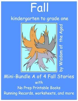 Fall - No Prep - 4 Printable Books - Mini-Bundle A - K to grade 1