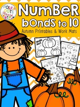 Autumn Number Bond Printables for Numbers to 10
