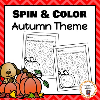 Autumn Number Spin and Color