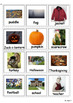 Autumn Communication Cards for Autism (including Halloween