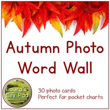 Autumn Photo Word Wall