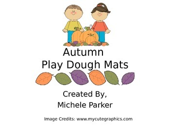 Autumn Play Dough/Play-Doh/Playdough Mat FREEBIE