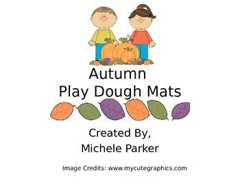 Autumn Play Dough/Play-Doh/Playdough Mats
