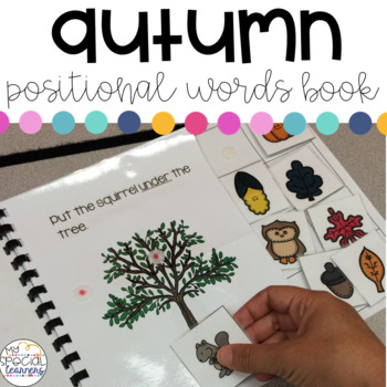 Autumn Positional Words Book