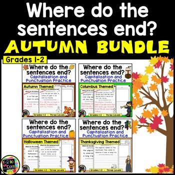Autumn BUNDLE - Punctuation and Capitalization: Where do t