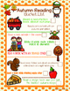 Autumn Reading Activities- No Prep Printables