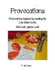 Reggio Inspired Autumn Provocations
