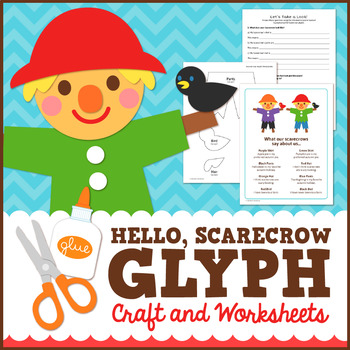 Fall Scarecrow Glyph Craft and Worksheets