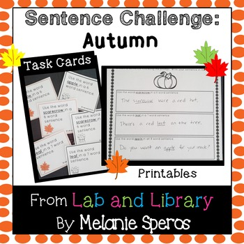 Autumn Sentence Challenge: Oral Language and Writing Practice