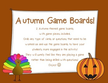 Autumn-Themed Game Boards (Speech Savvy)