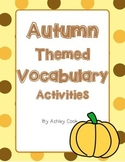 Autumn Themed Vocabulary Activities