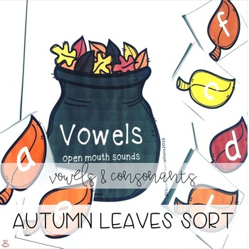 Autumn Themed Vowels and Consonants Sorting Center (Orton-