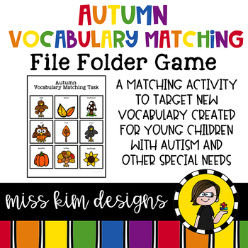 Autumn Vocabulary Folder Game for Early Childhood Special