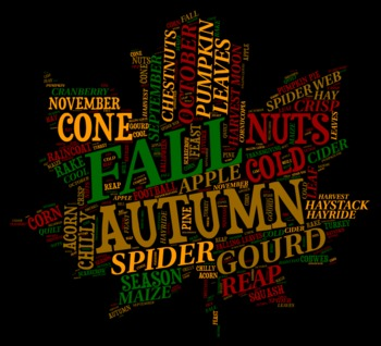 Autumn Vocabulary image for Classroom Decoration Poster or Sign