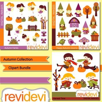 Autumn collection clip art bundle (3 packs) fall clipart digitals