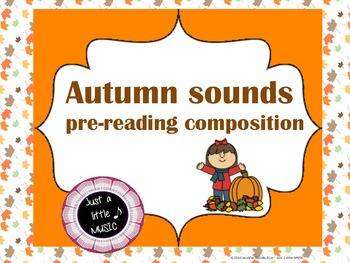 Autumn sounds--Pre-reading composition for Activboards