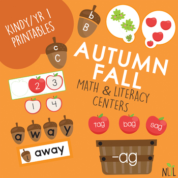 Autumn/Fall Literacy Centers