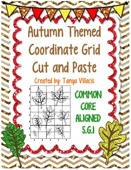 Autumn/Fall Themed Coordinate Grid Cut and Paste Activity