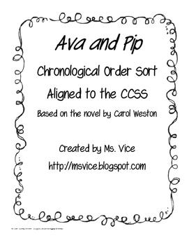 Ava and Pip Chronological Order Sort