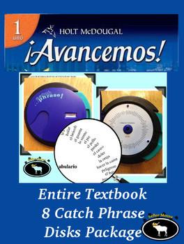 Avancemos 1 Entire Textbook 8 Catch Phrase Disks