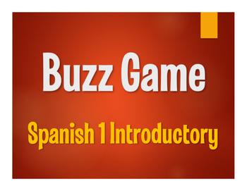 Avancemos 1 Lección Preliminar 2 Buzz Game