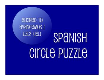 Avancemos 1 Semester 2 Review Circle Puzzle
