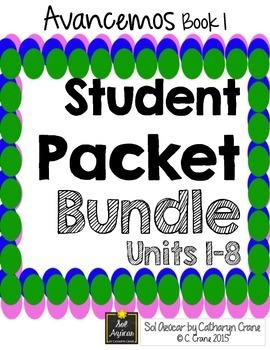 Avancemos 1 Student Handouts & Notes - BUNDLE - All Units LP - 8