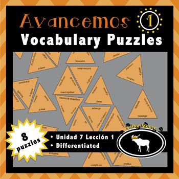 Avancemos 1 Unidad 7 Lección 1 4 Puzzle Pack