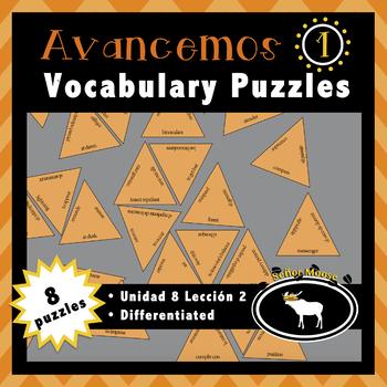 Avancemos 1 Unidad 8 Lección 2 4 Puzzle Pack